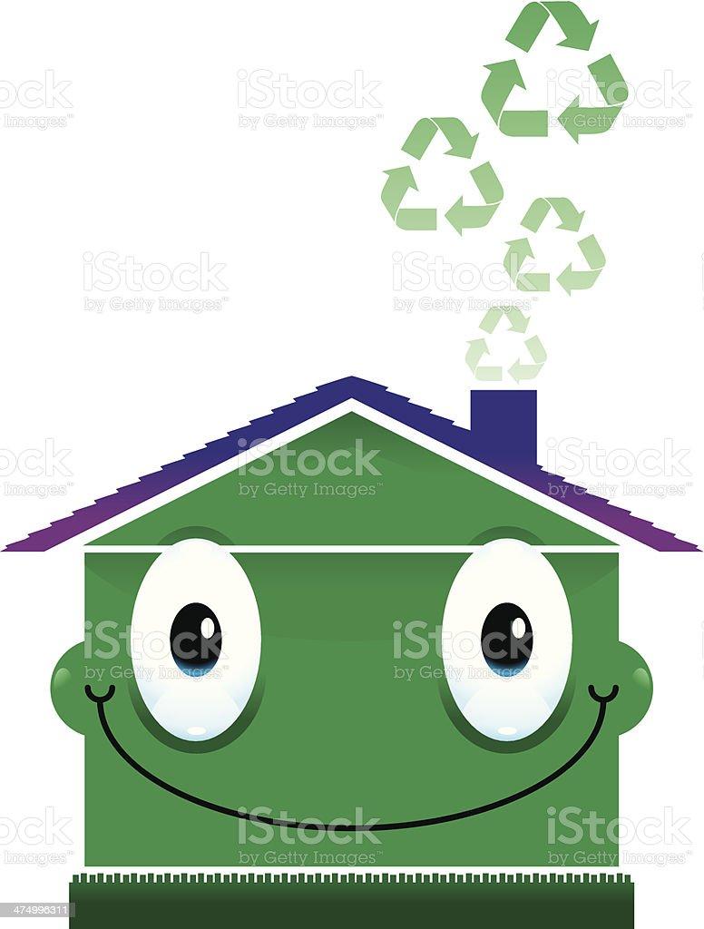Green Home royalty-free stock vector art