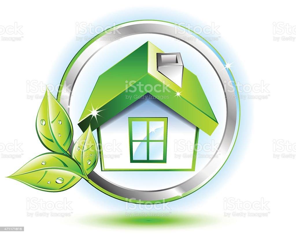 Eco Friendly Construction Green House Ecofriendly Construction Stock Vector Art 471171816