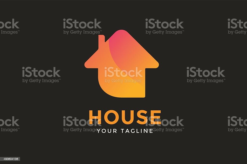 Green house home vector icon vector art illustration