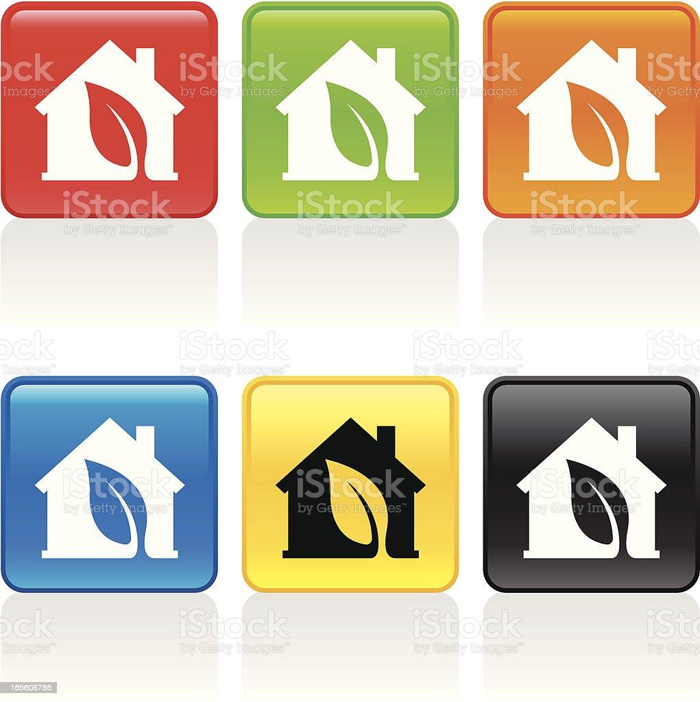 Green House Icon royalty-free stock vector art