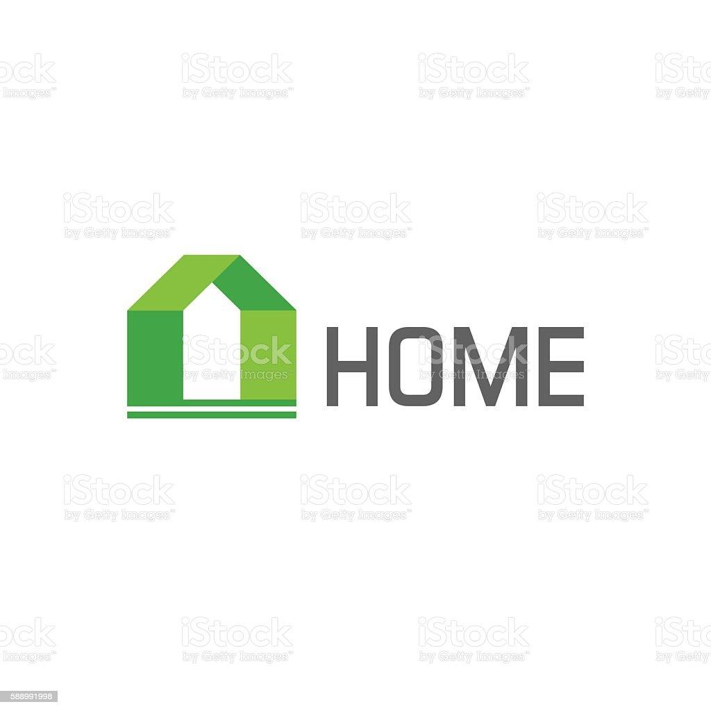 Green house logo vector design elements, concept of eco home vector art illustration
