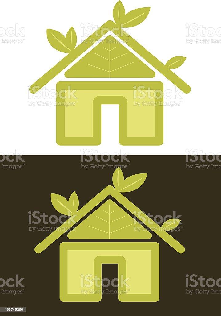 Green House royalty-free stock vector art