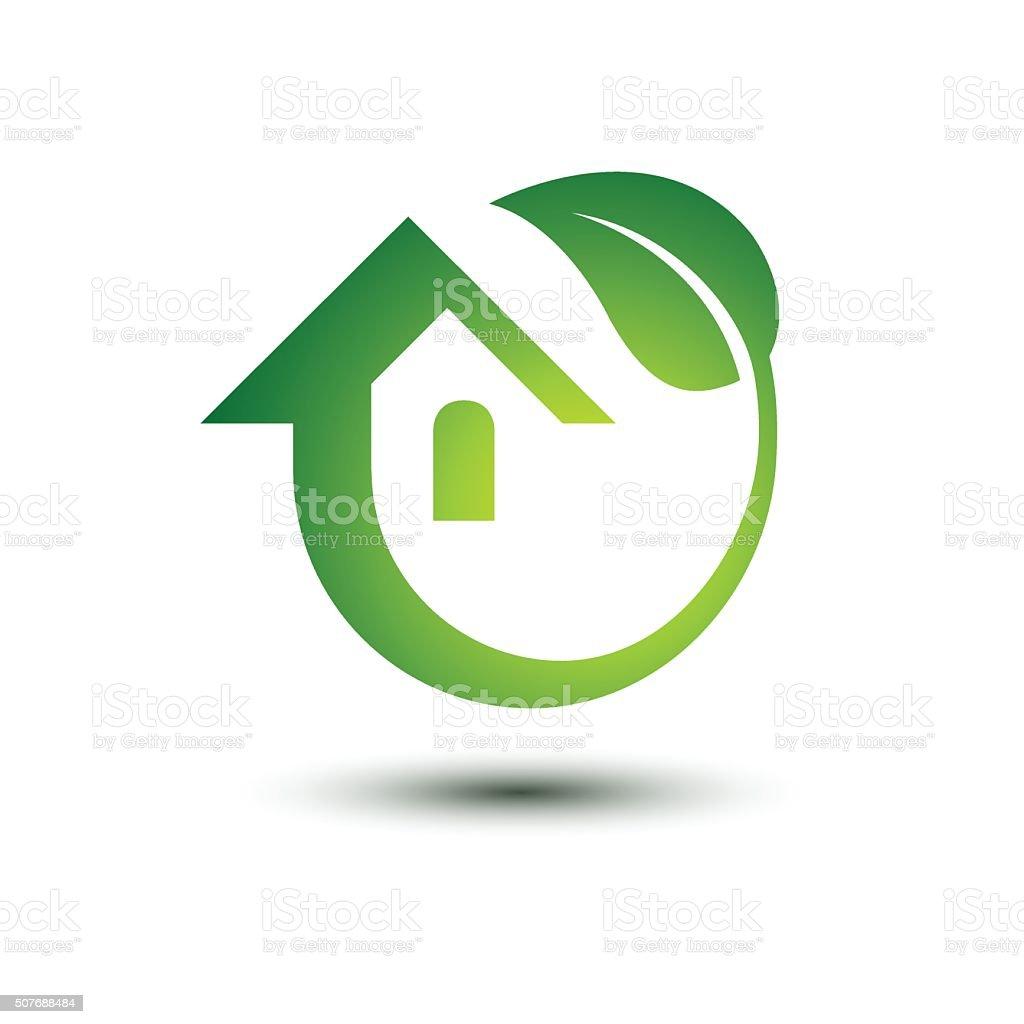 Green house vector art illustration