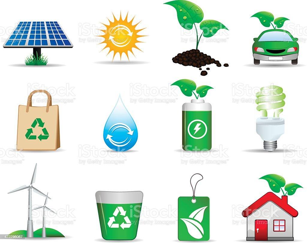 Green Icon royalty-free stock vector art