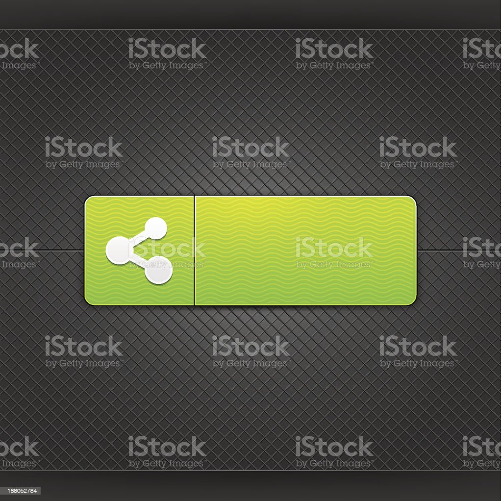 Green icon white share sign web internet button metal texture royalty-free stock vector art