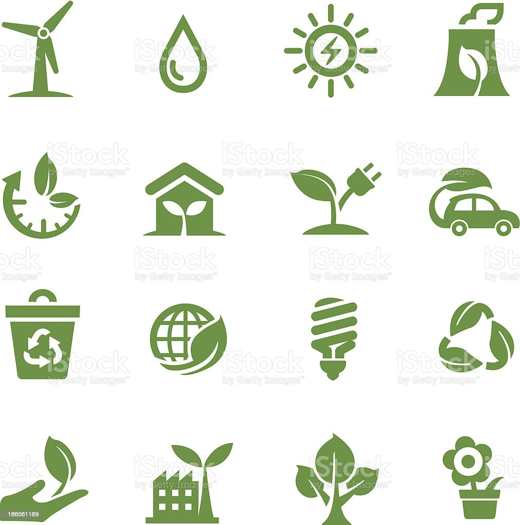 Green Icons - Acme Series vector art illustration