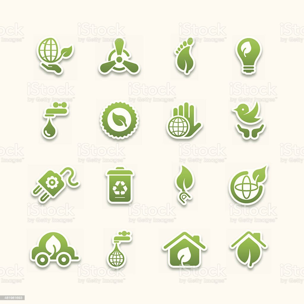 Green icons | Part 02 royalty-free stock vector art