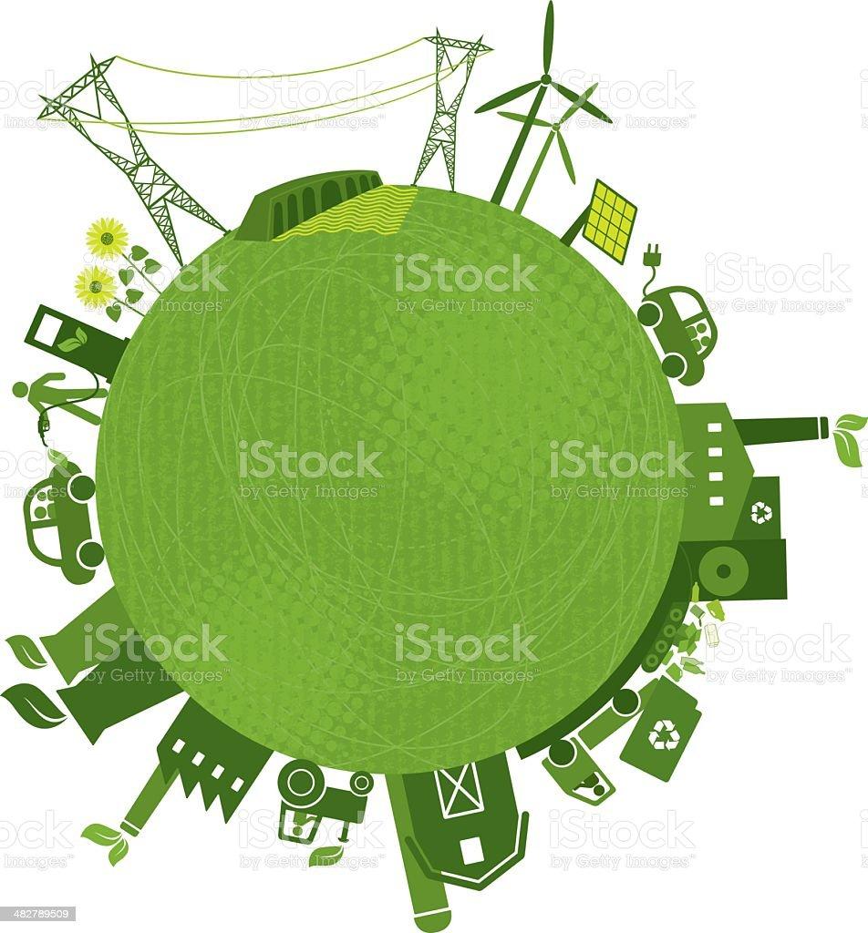 Green Industries (Green-World Series) royalty-free stock vector art