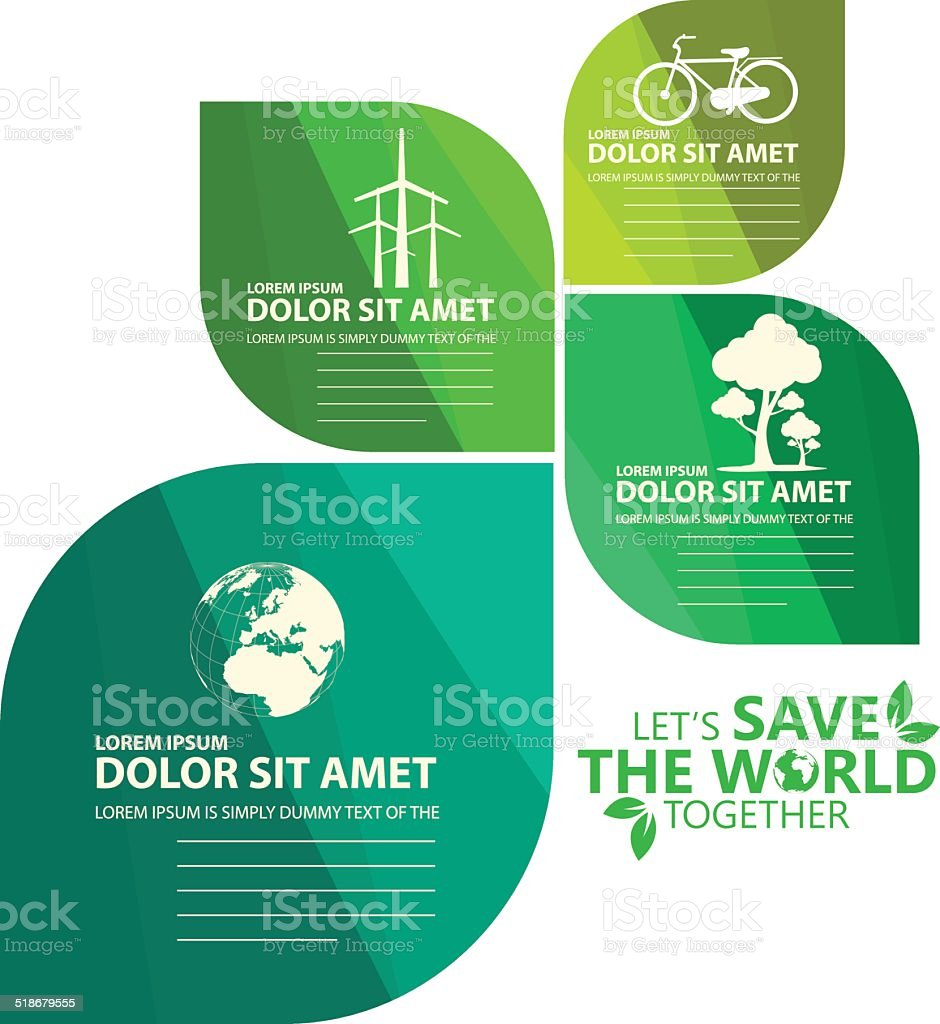 green infographic vector art illustration