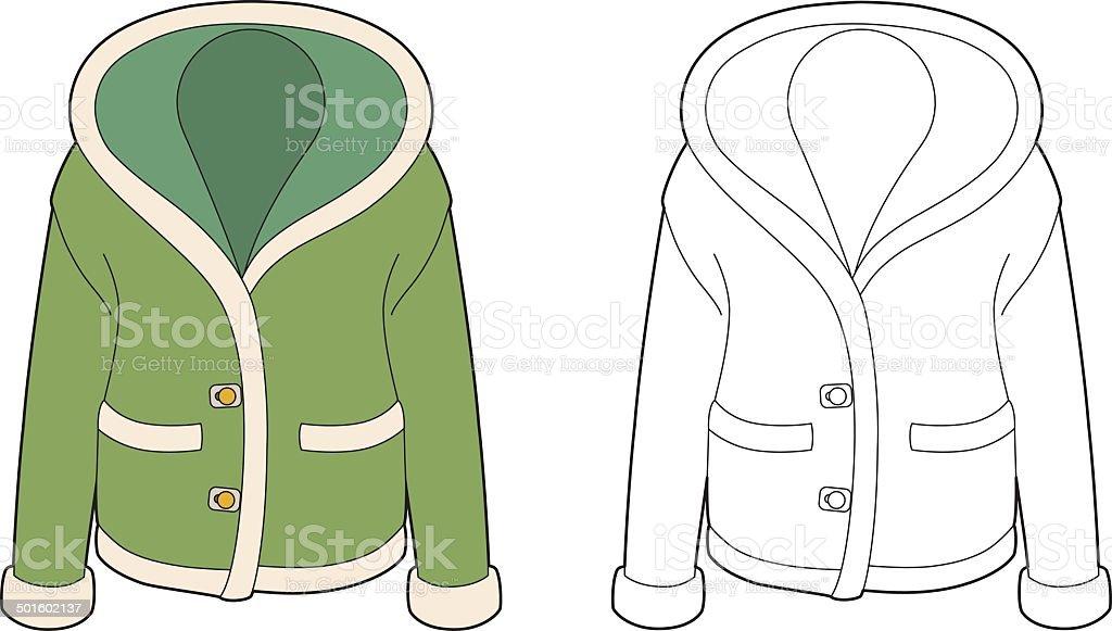 Green jacket royalty-free stock vector art