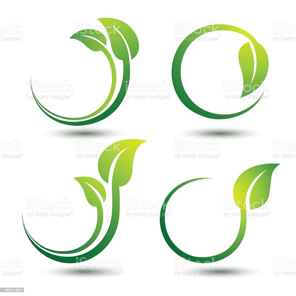 Green labels vector art illustration