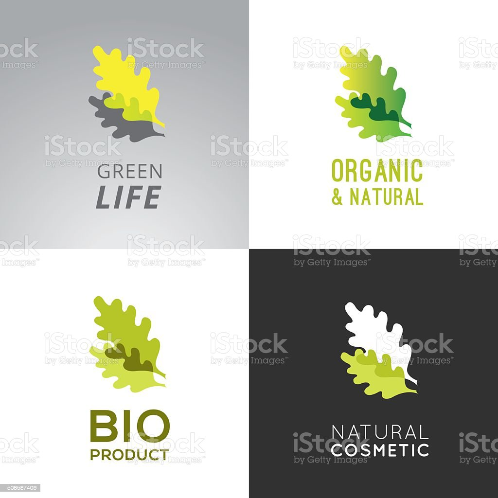 Green Lable collection vector art illustration