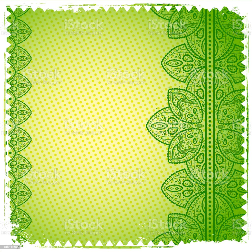 Green Lace ornament royalty-free stock vector art