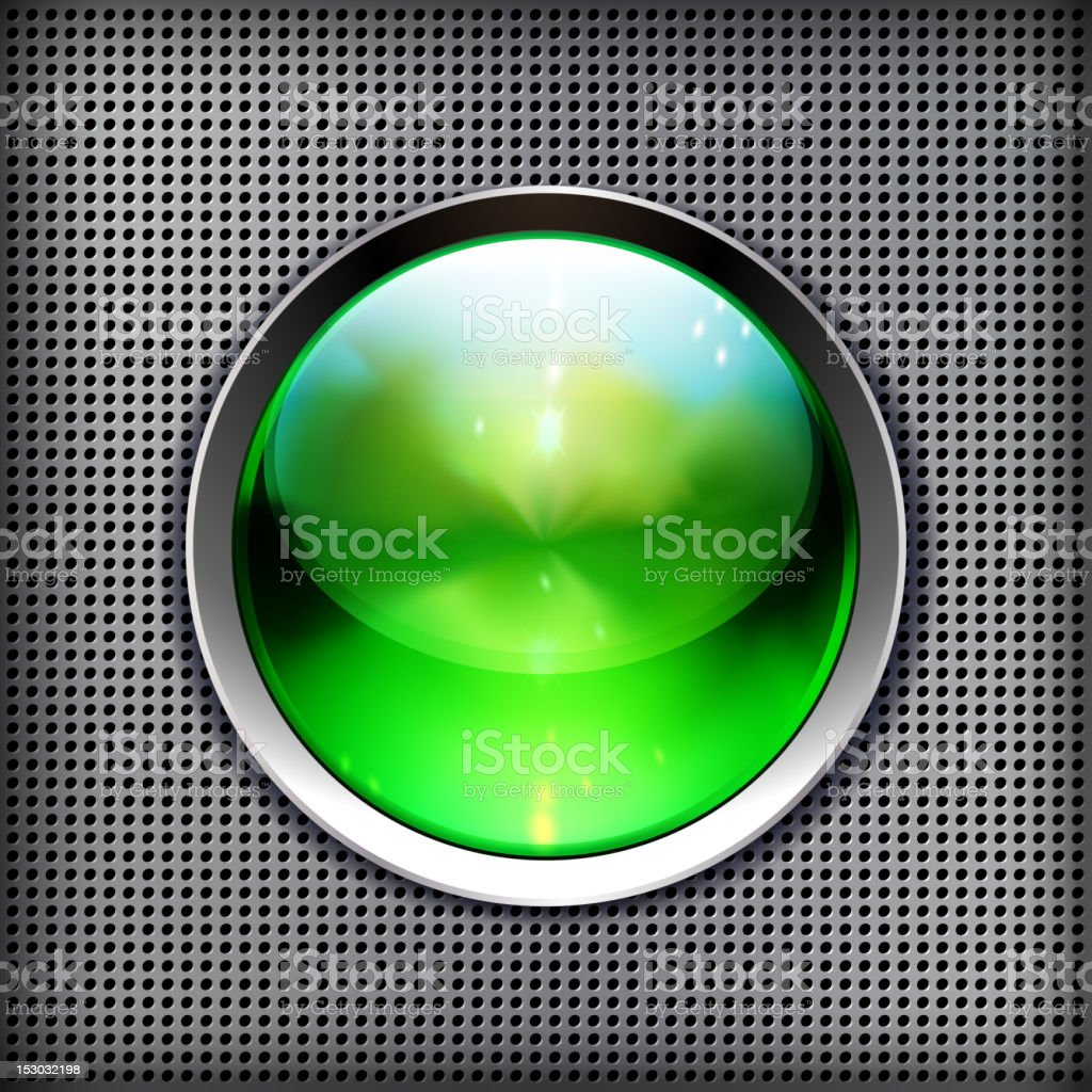 Green lamp on a wall royalty-free stock vector art