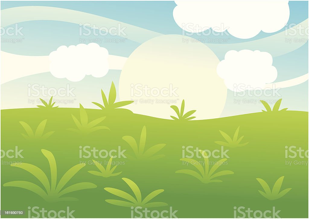 Green Landscape background royalty-free stock vector art