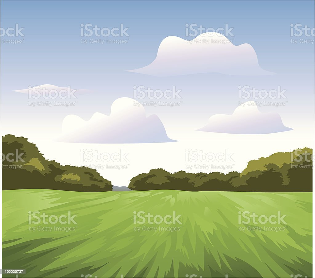 Green Landscape royalty-free stock vector art