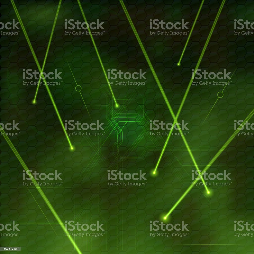 Green Lasers vector art illustration