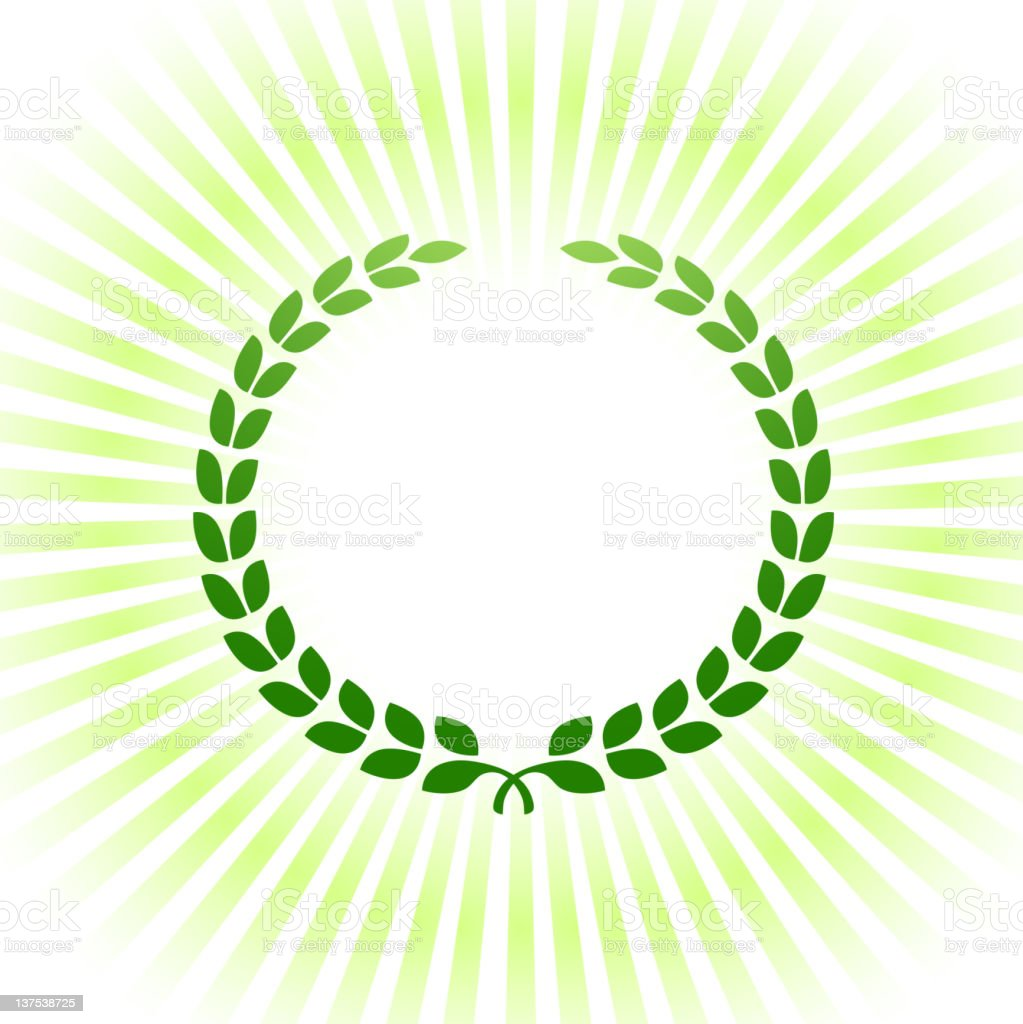 Green laurel royalty-free vector Background royalty free vector royalty-free stock vector art