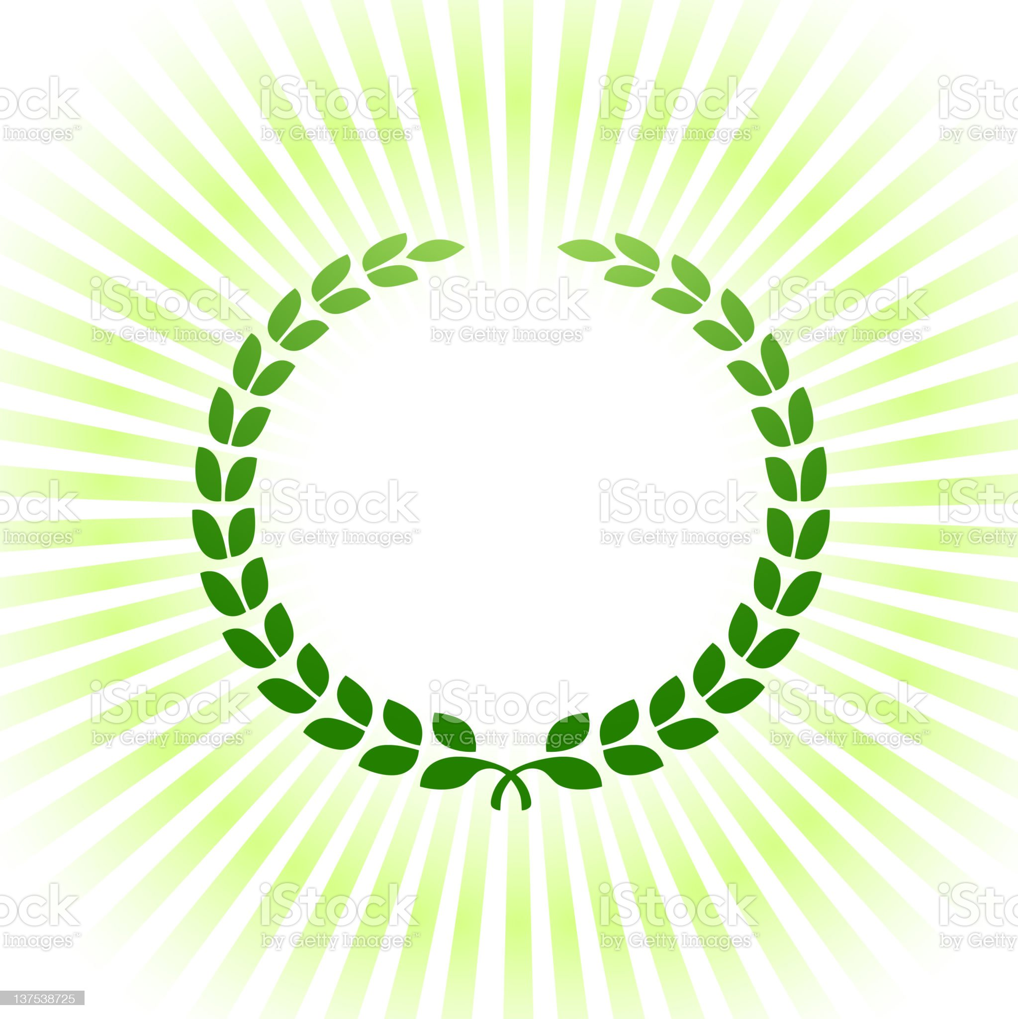 Green laurel royalty-free vector Background royalty free vector royalty-free stock vector art