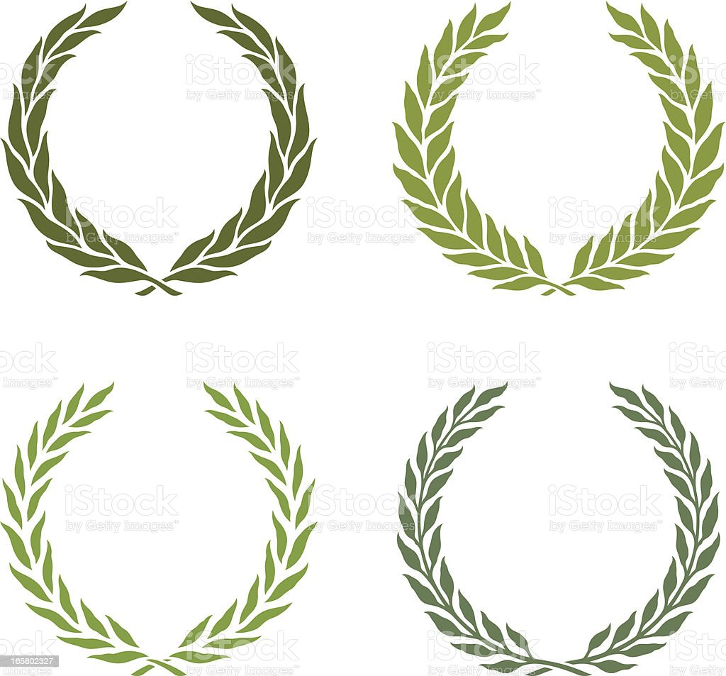 green laurel wreath royalty-free stock vector art