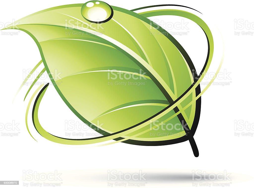 Green leaf design royalty-free stock vector art