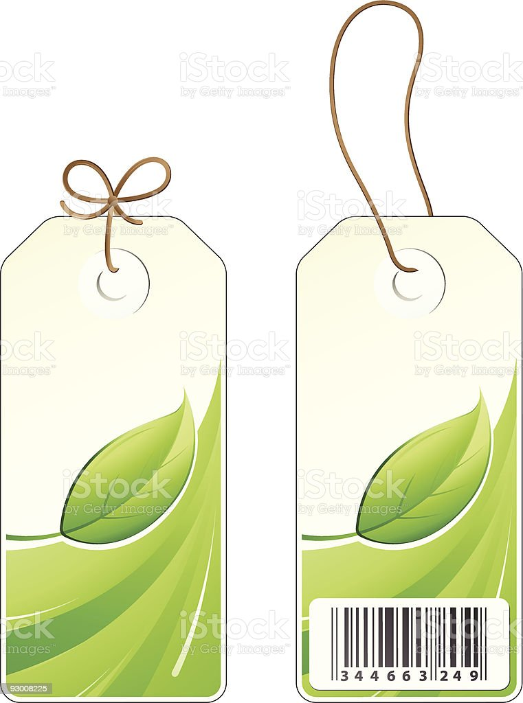 green leaf sales price tag royalty-free stock vector art