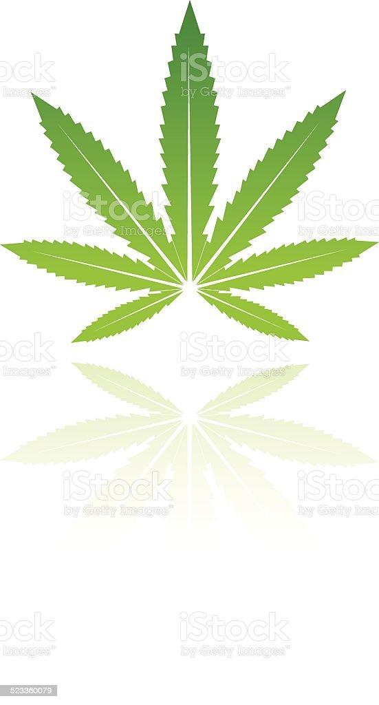 Green feuille stock vecteur libres de droits libre de droits
