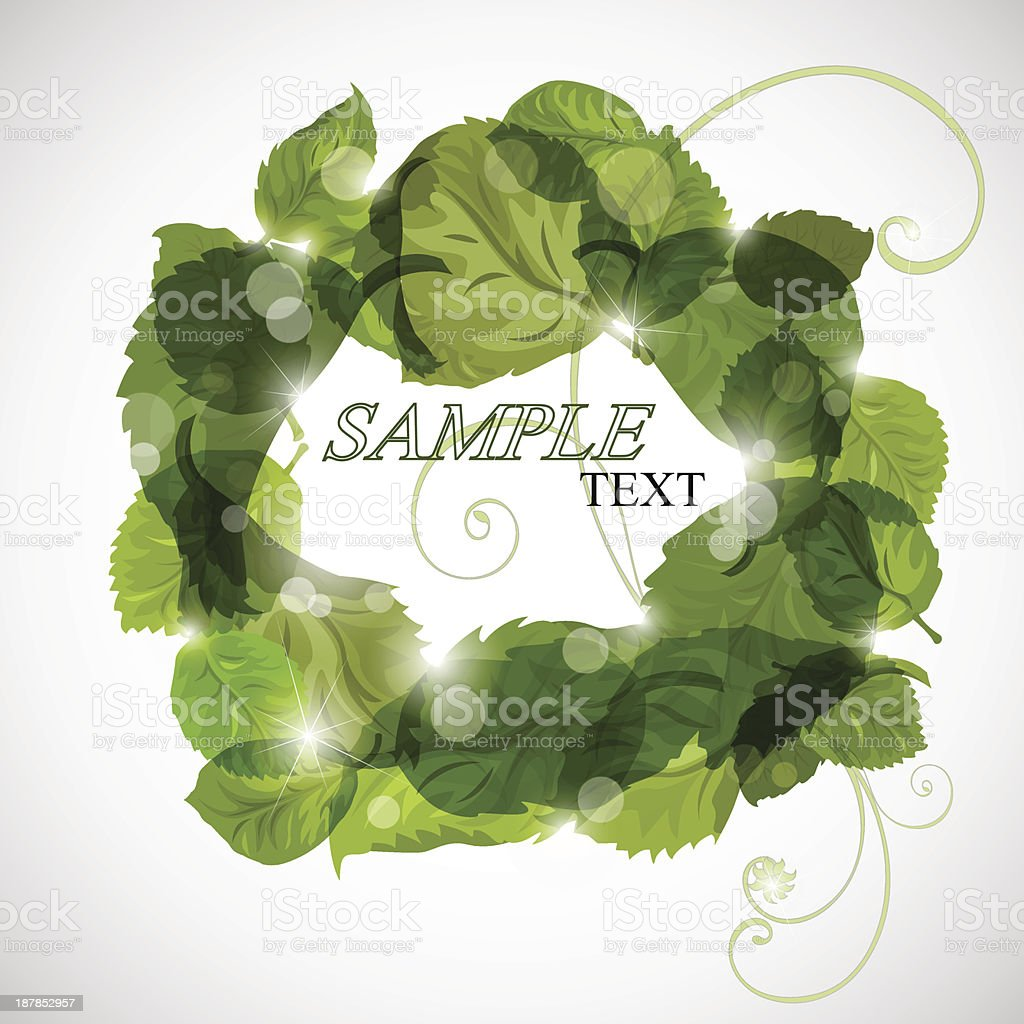 green leaves background royalty-free stock vector art