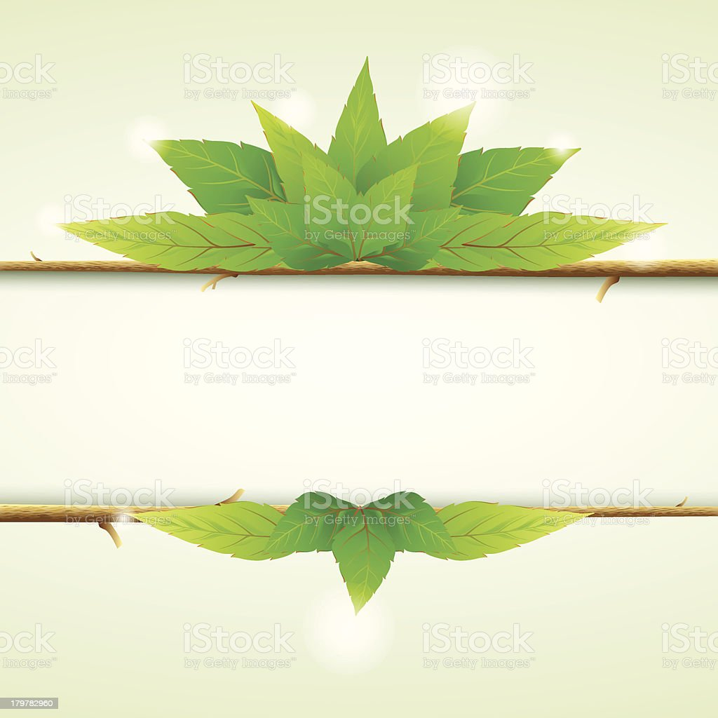 Green leaves ecology background royalty-free stock vector art