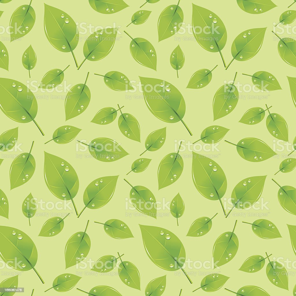 Green Leaves Seamless Pattern royalty-free stock vector art