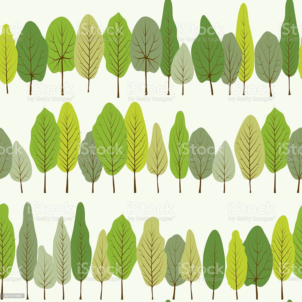 Green leaves seamless pattern vector art illustration