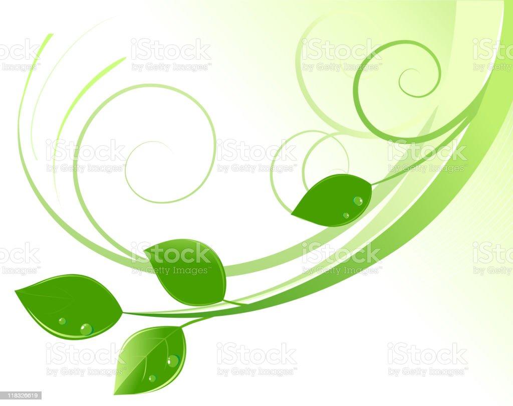 green leaves royalty-free stock vector art