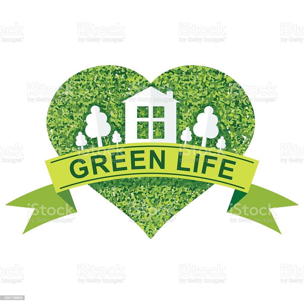green life concept vector art illustration