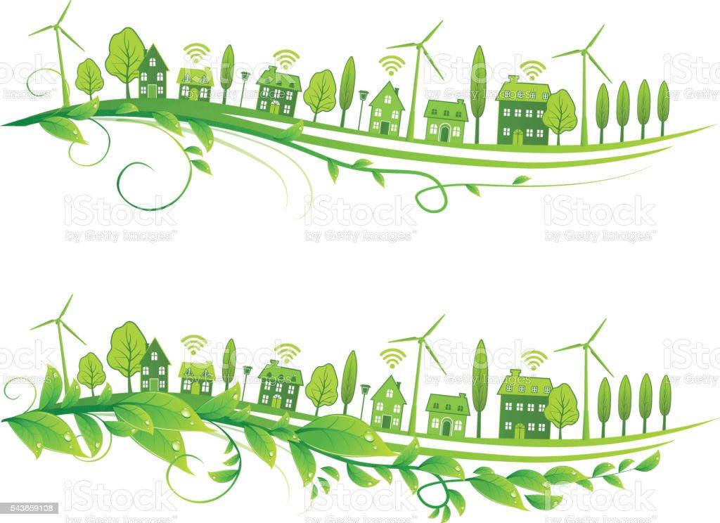 Green Life vector art illustration