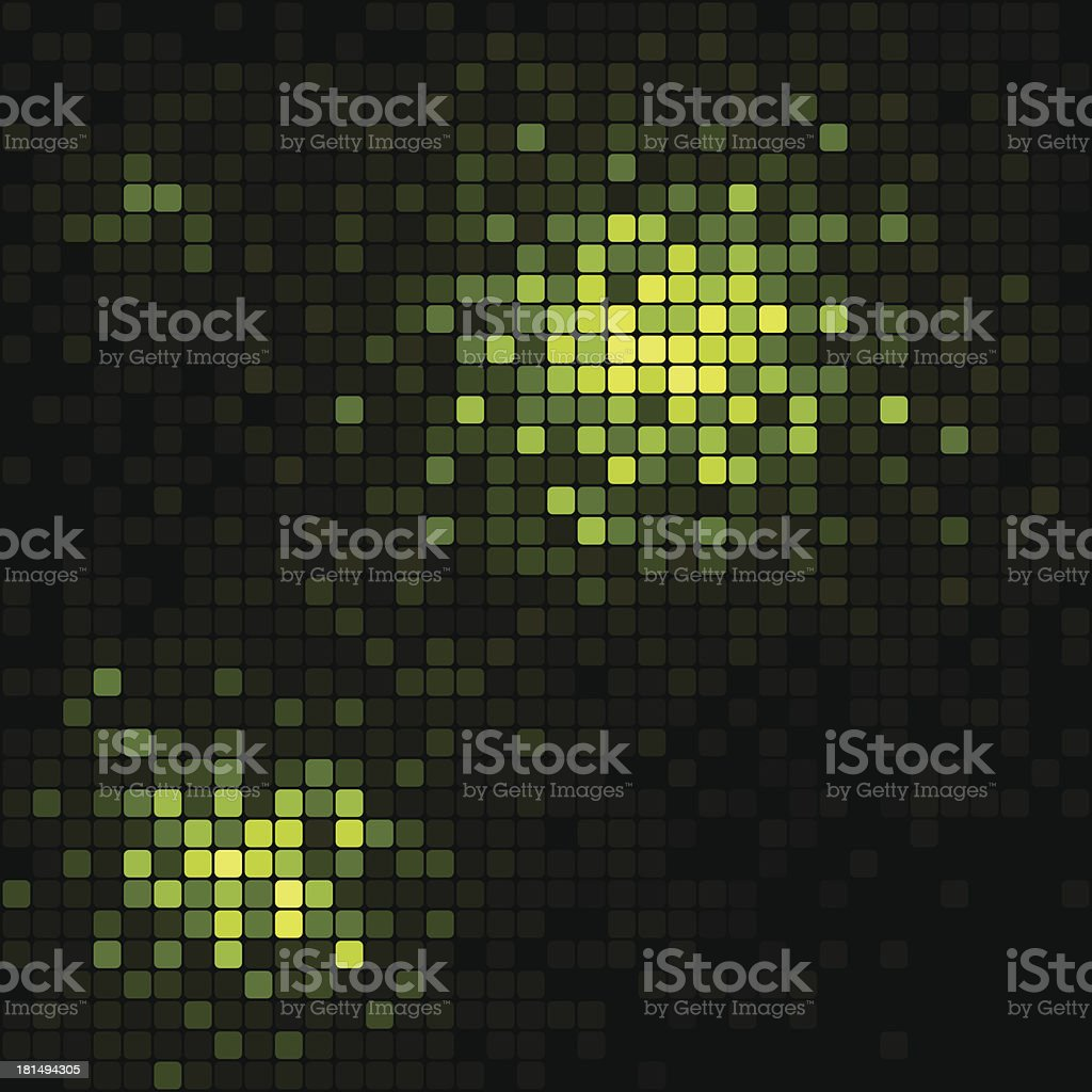 Green light mosaic vector background royalty-free stock vector art