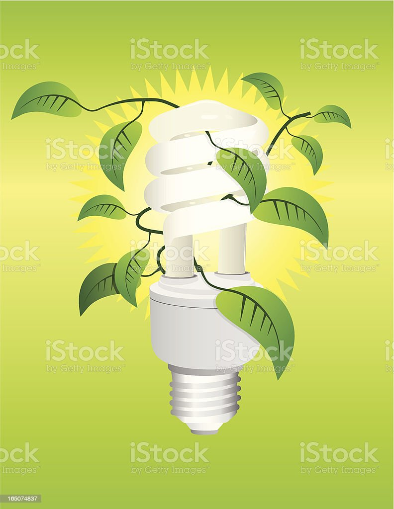 Green Lighting vector art illustration
