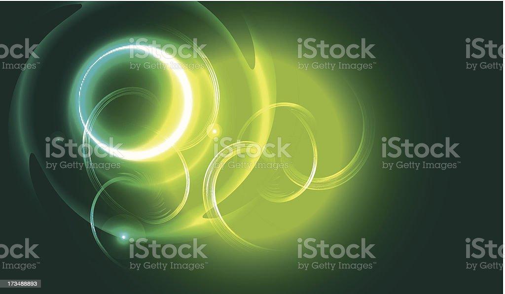 Luci di sfondo verde illustrazione royalty-free