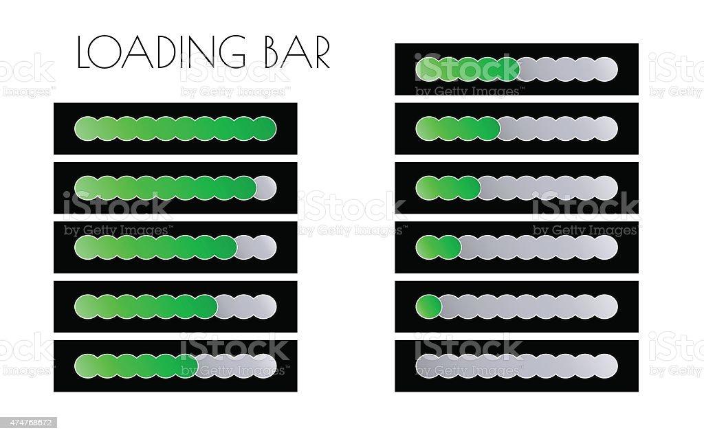 green loading bars vector art illustration