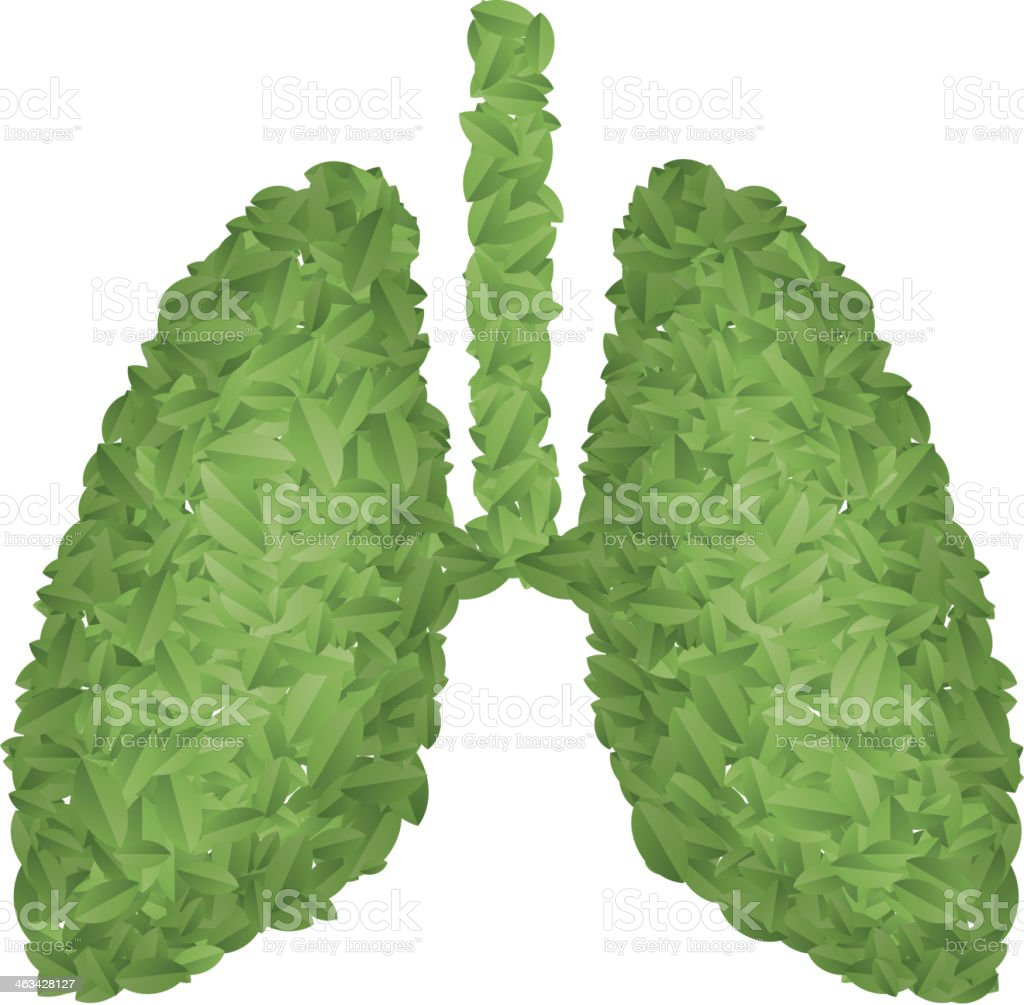 Green lung royalty-free stock vector art