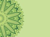 green mandala with place for text