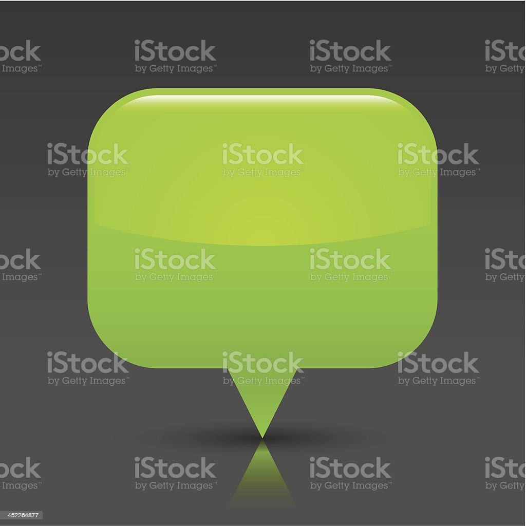 Green map pin sign glossy icon rectangle button gray background royalty-free stock vector art