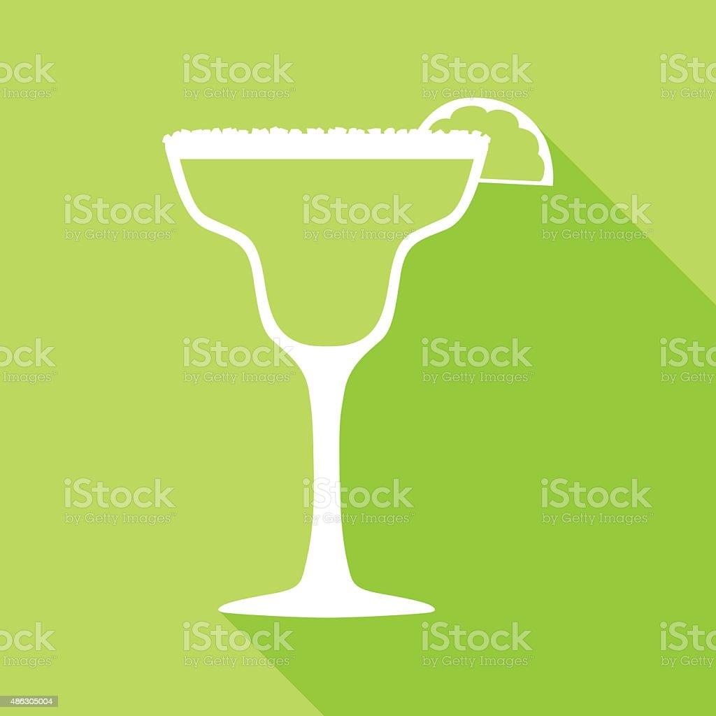 Green Margarita Icon vector art illustration