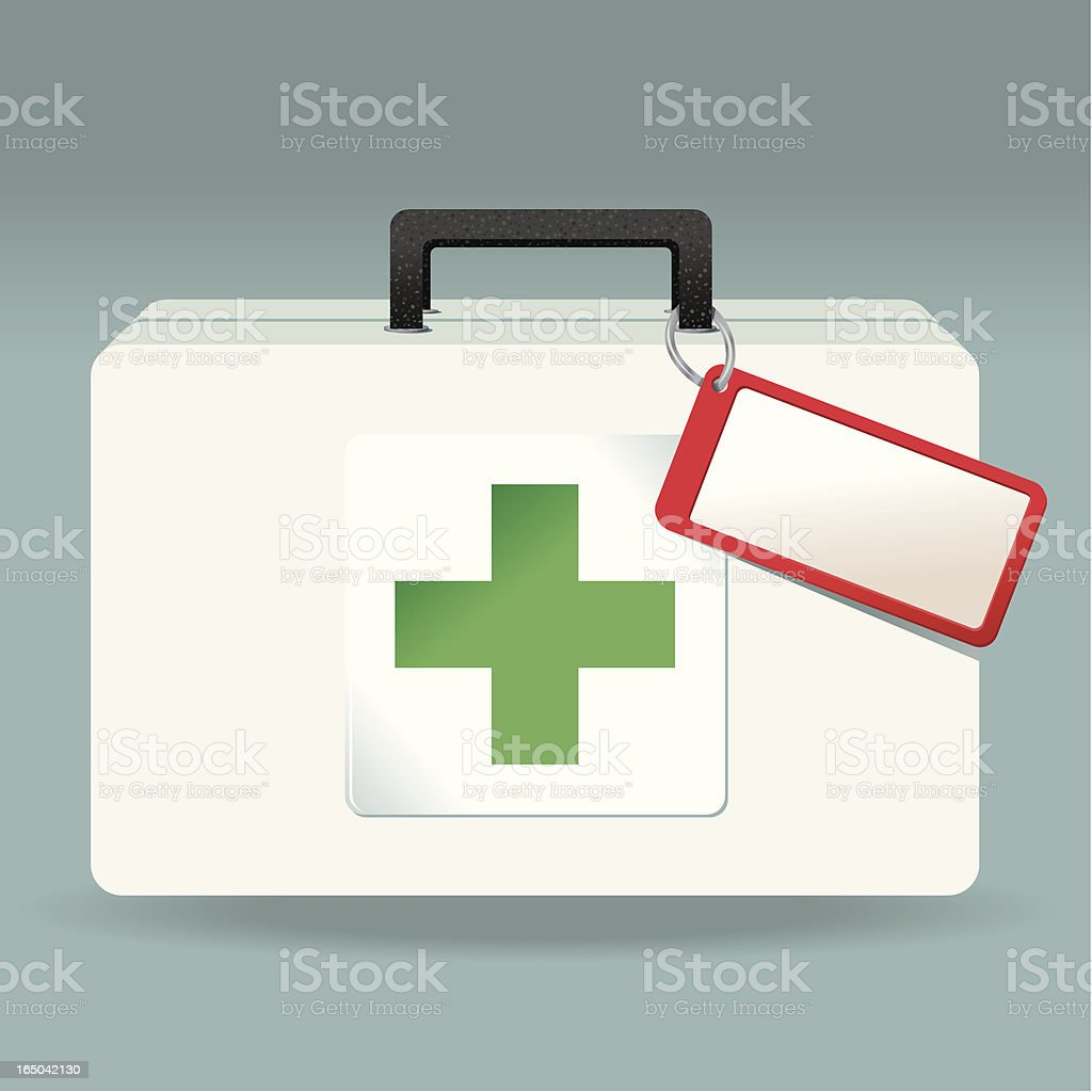 Green Medical Case royalty-free stock vector art