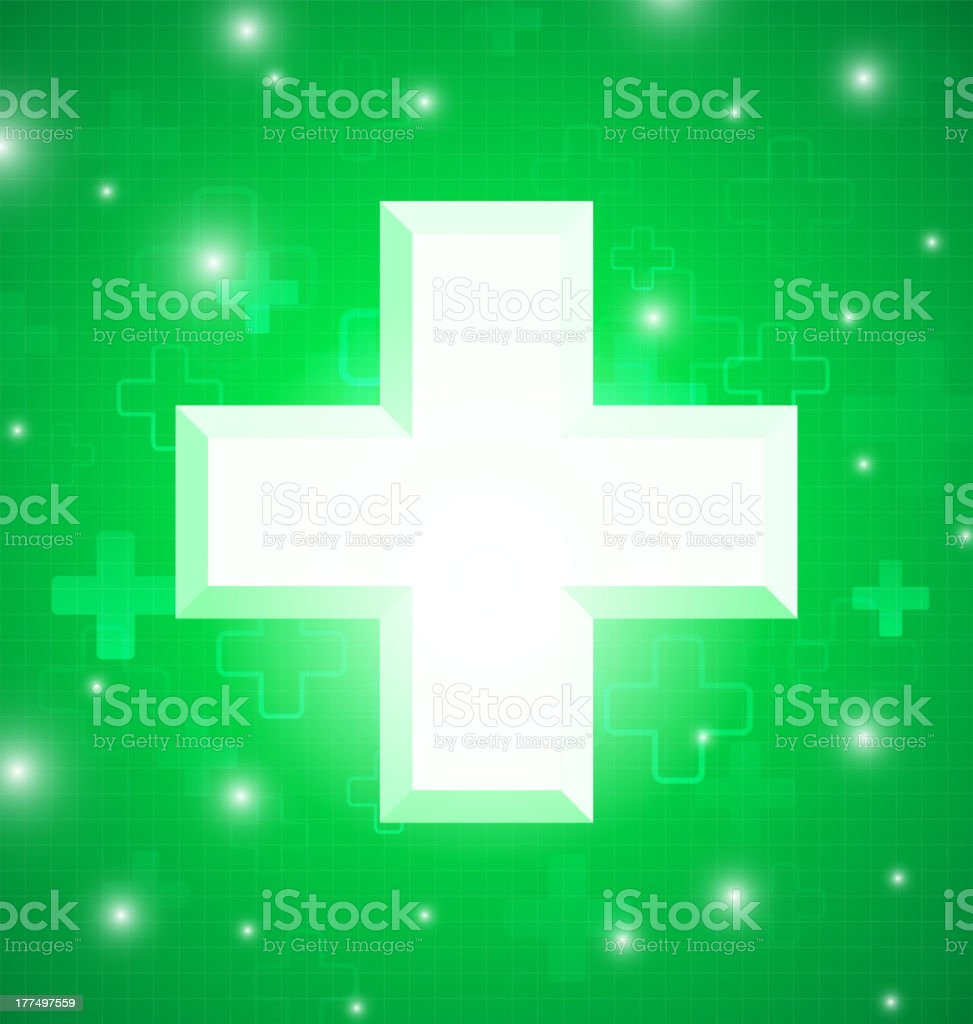 Green medical design royalty-free stock vector art