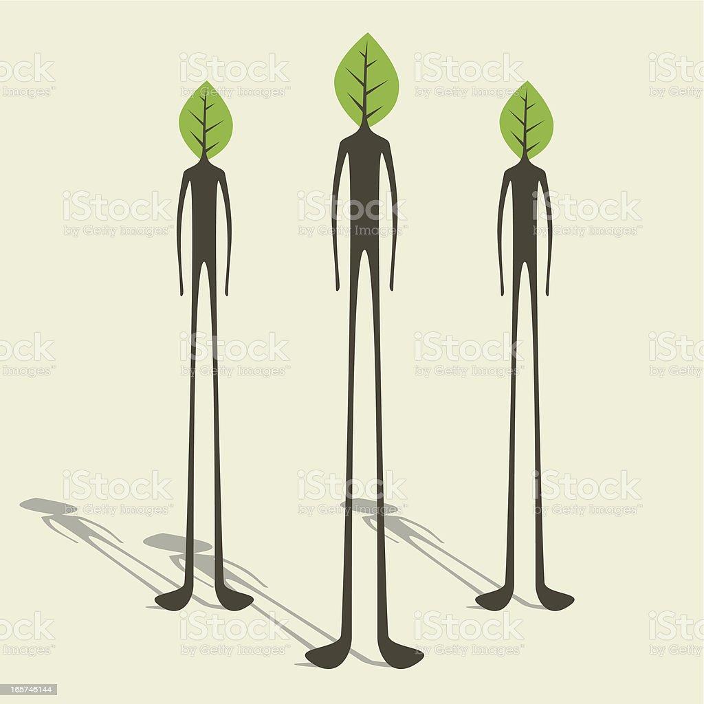 Green minded company royalty-free stock vector art