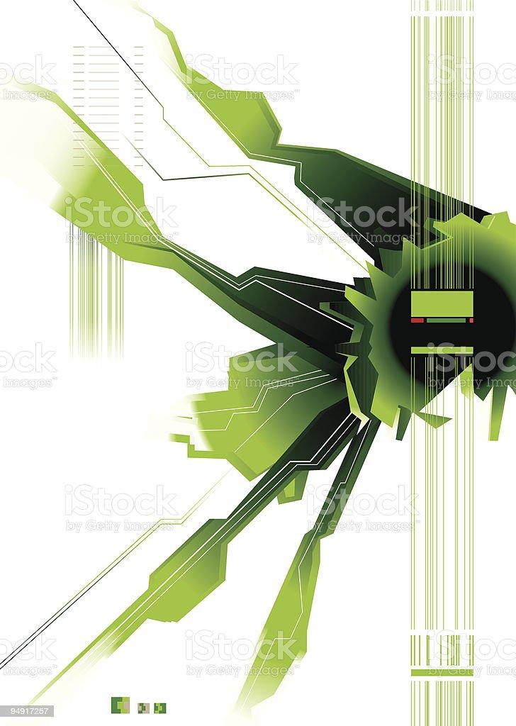 green modern space royalty-free stock vector art