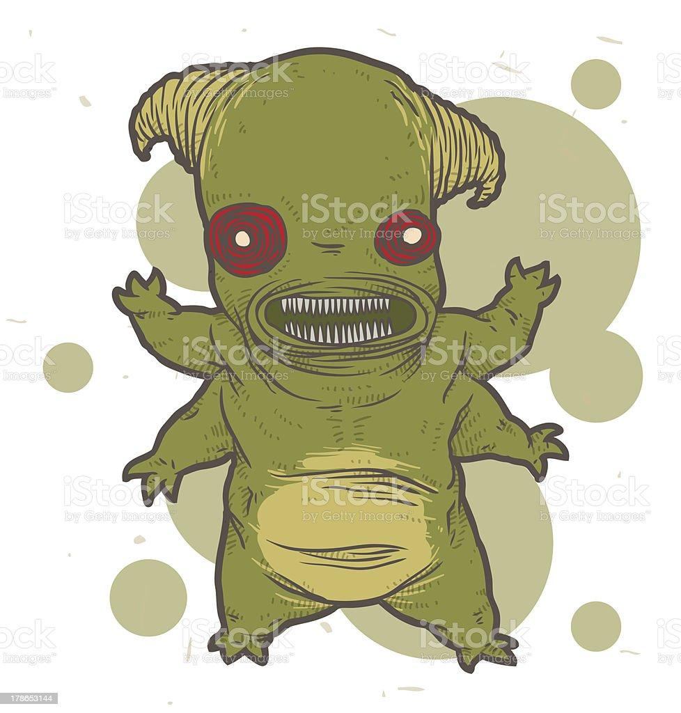 Green monster mutant royalty-free stock vector art