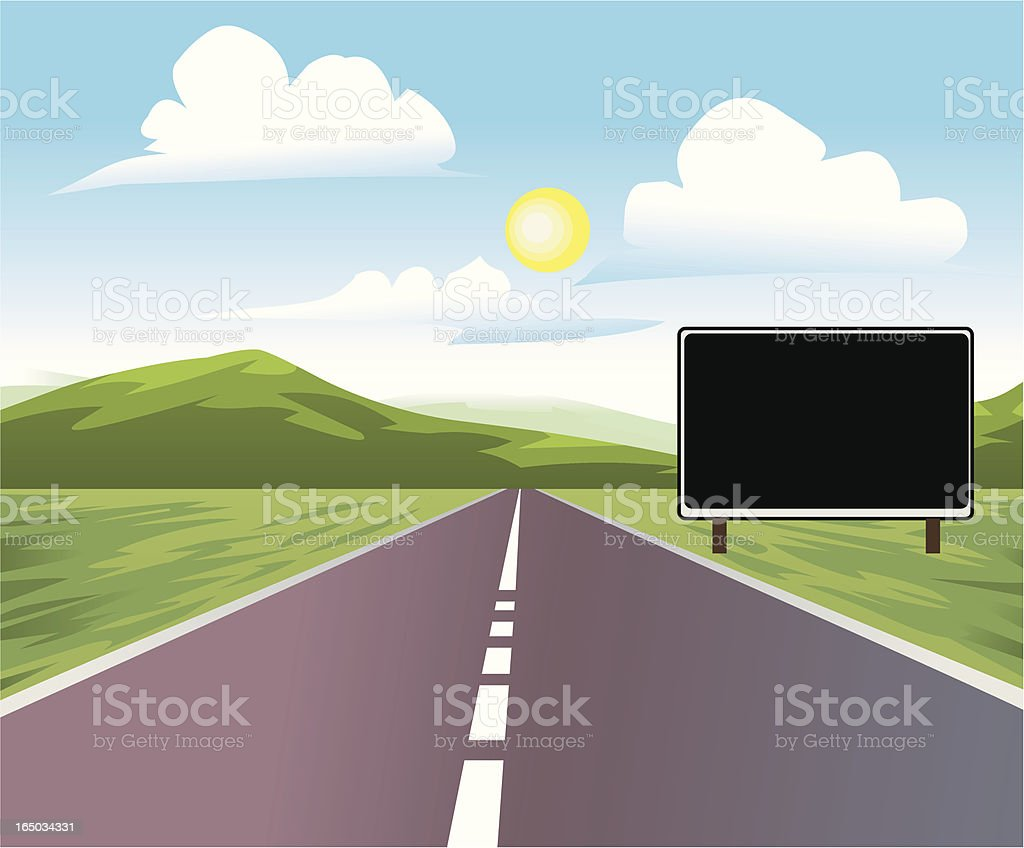 Green Mountain Road royalty-free stock vector art