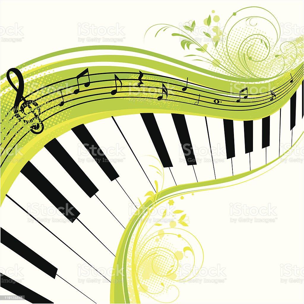 Green music royalty-free stock vector art
