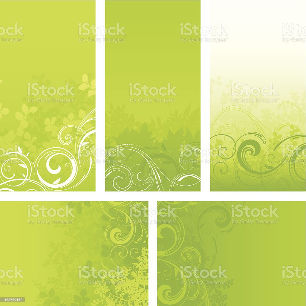 Green nature backgrounds royalty-free stock vector art